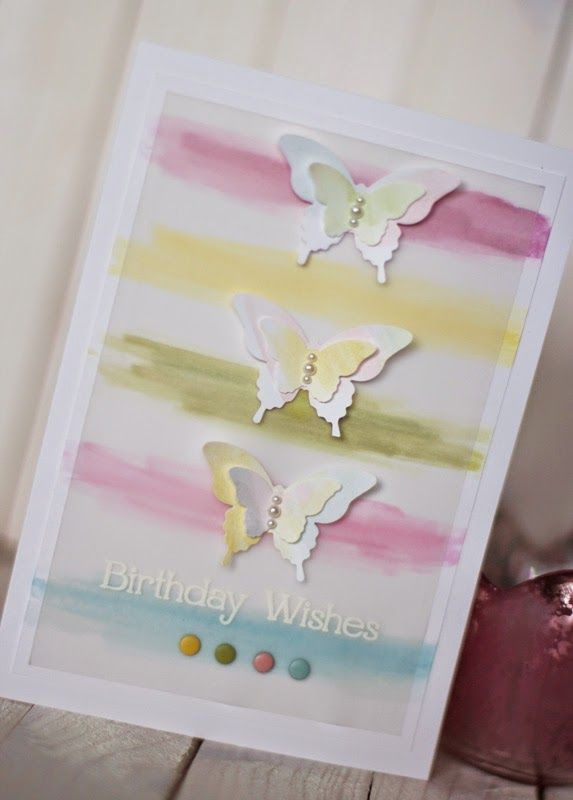 Aquarell butterfly card / Aquarell Schmetterlings-Karte #conibaer