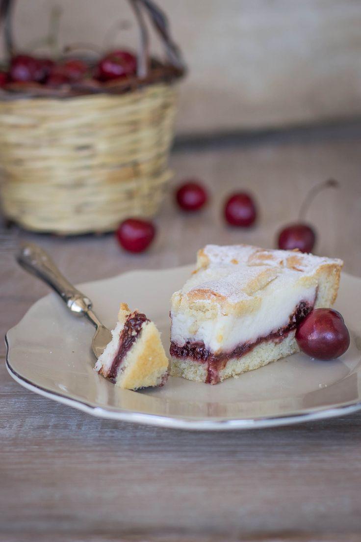 Crostata con ricotta e confettura di ciliegie3