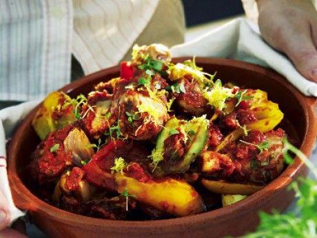 Ugnsbakad kyckling med ratatouille Receptbild - Allt om Mat