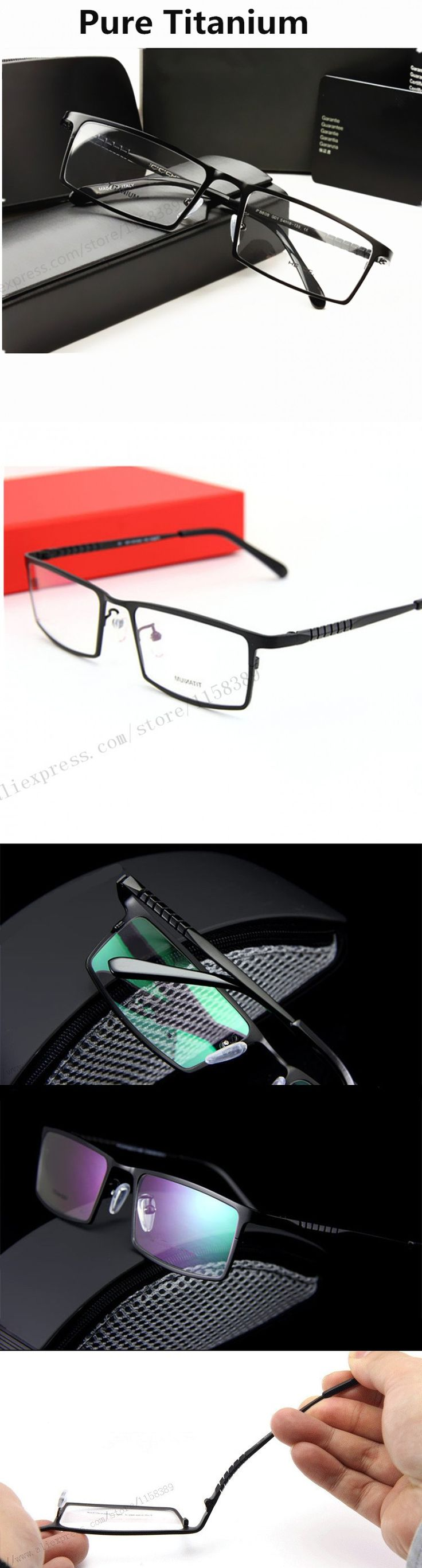Glasses P8808 Titanium Eyeglasses Frames Men Optical Glasses Frame Glasses Prescription Eyewear For Business Men Eye glasses $66.99