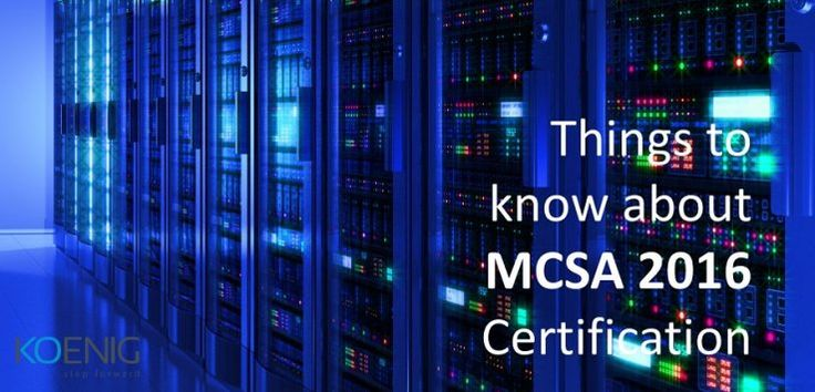 #MCSA #Training #Certification