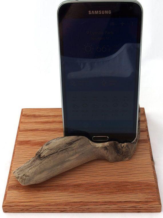 Driftwood docking station natural art phone by HopeAndGracePens