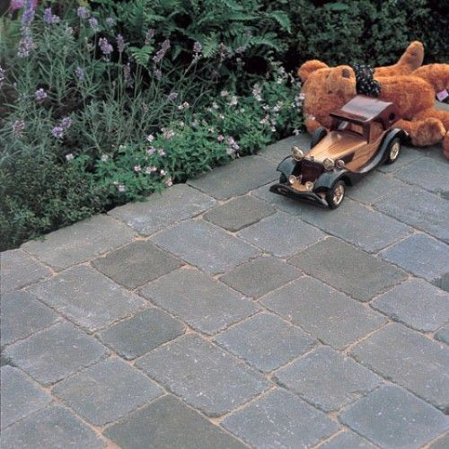 Bradstone, Woburn Rumbled Block Paving Graphite 100 x 134 x 50 - 8.98m2 Per Pack - Premium - Block Paving