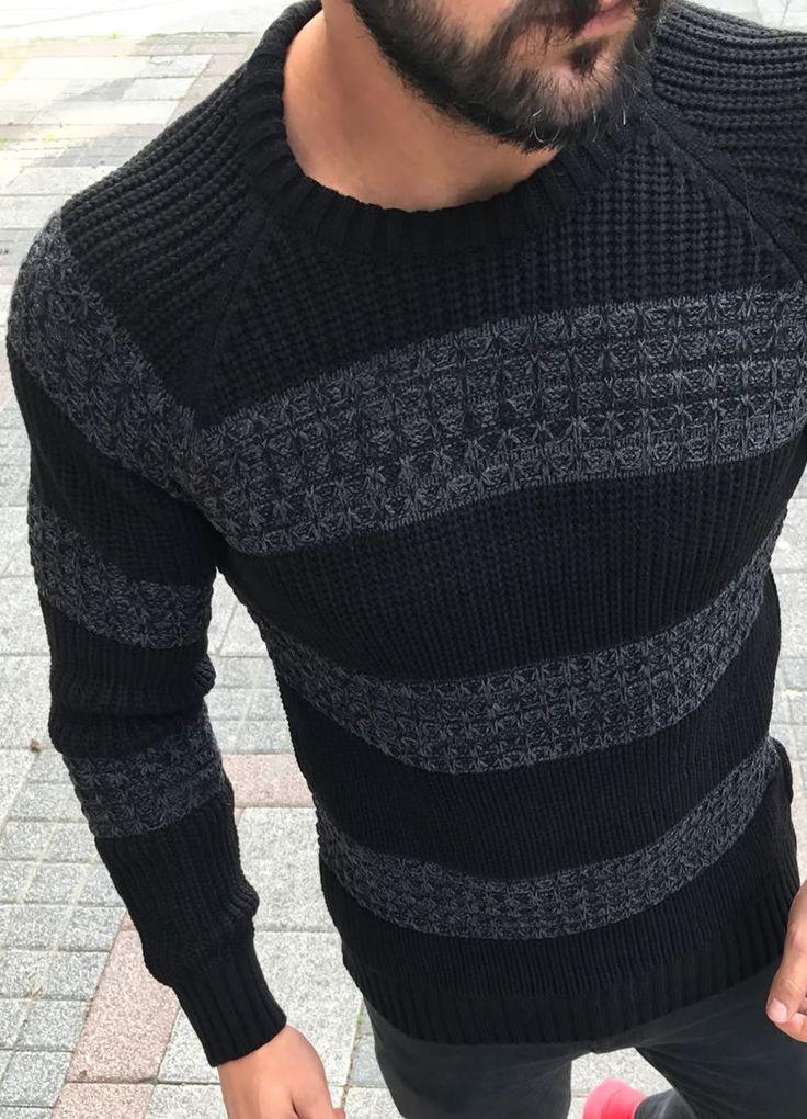 Modagen.com | Erkek Giyim, Erkeklere Özel Alışveriş Sitesi ~ Desenli Kalin Kazak