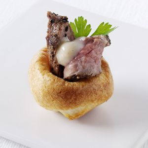 Mini roast beef (or toad in the hole), great starter
