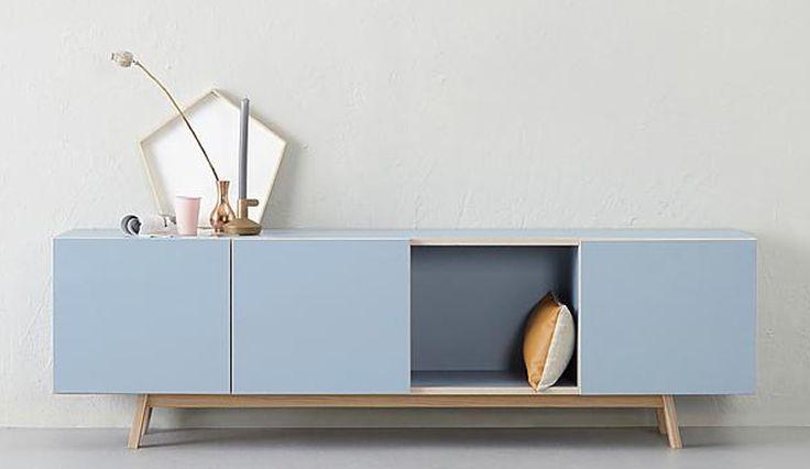 Blauw tv-meubel #woonstijl #modern #blauw