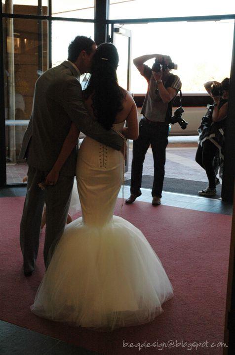 Alyce Polak Wedding - Beq Design Gown by Rebecca Timson and Sam Elmslie