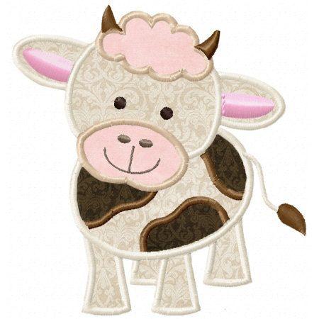 Baby Cow Applique Machine Embroidery by LittleStitchesStudio, $3.49