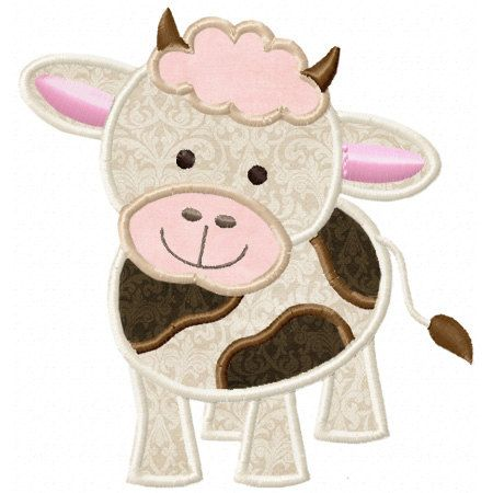 Baby Cow Applique Machine Embroidery by LittleStitchesStudio, $3.49