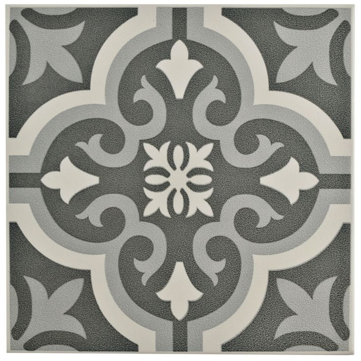 The SomerTile 8x8-inch Cavado Classic Ceramic Floor and Wall Tile captures the artisanal look of cement tiles. Use this durable tile by itself or pair it with many of our other products, including others in the Braga series.