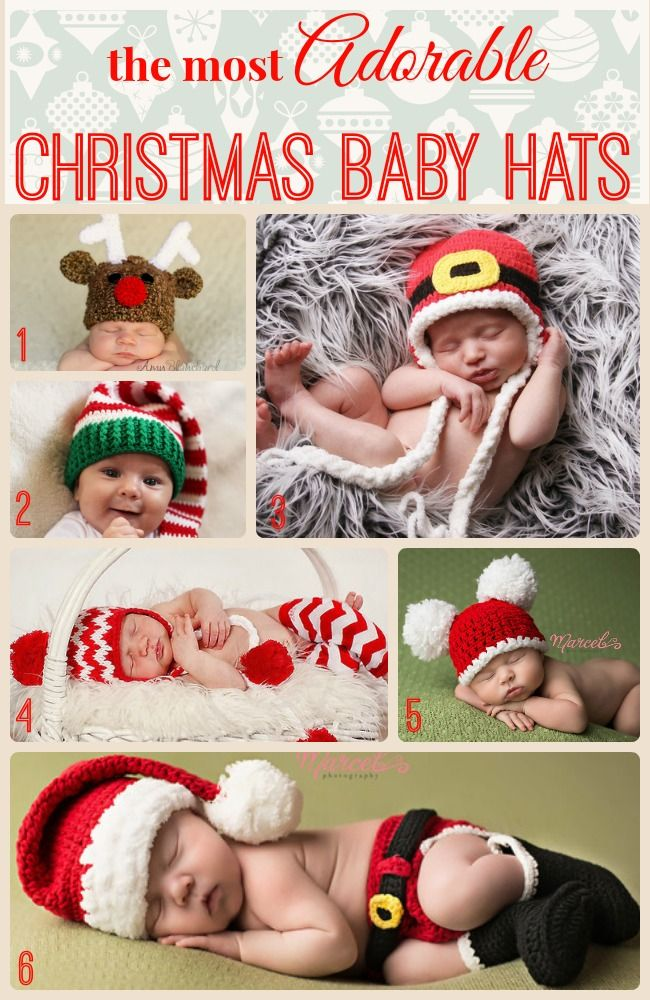 Melondipity Christmas Baby Hats