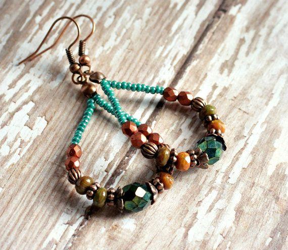 37 best Jewelry Beaded Hoops images on Pinterest | Earrings, Jewelry ...