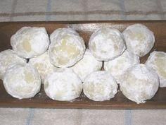Sand Dollar cookies, aka Sand Tarts, aka Russian Tea Cookies. My favorite!