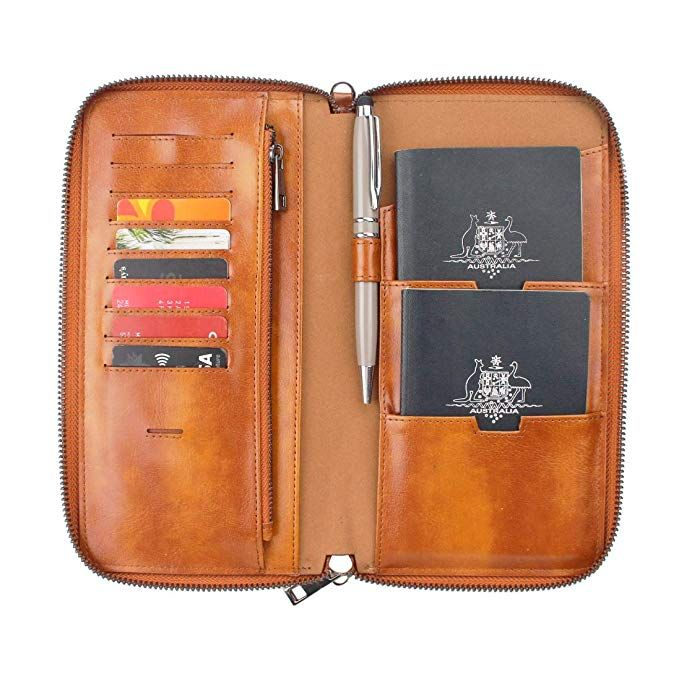 Family passport case Phone wallet Travel wallet Wallet organizer Bags and purses Gift for him Leather money holder