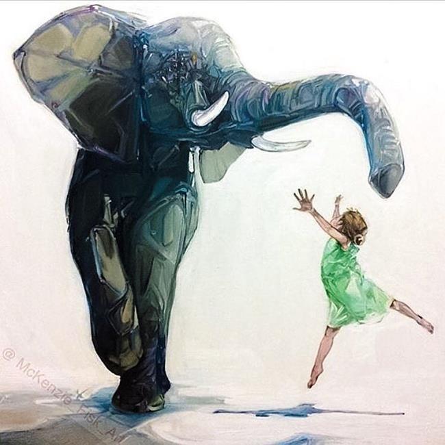 Sanatlı Bi Blog Çocuklar ve Hayvanları Aynı Karede Resmeden Sanatçıdan 17 Sevimli Çalışma 4