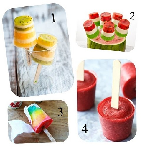 Yummy! And what could be better in this heat (except maybe the AC) than homemade popsicles!