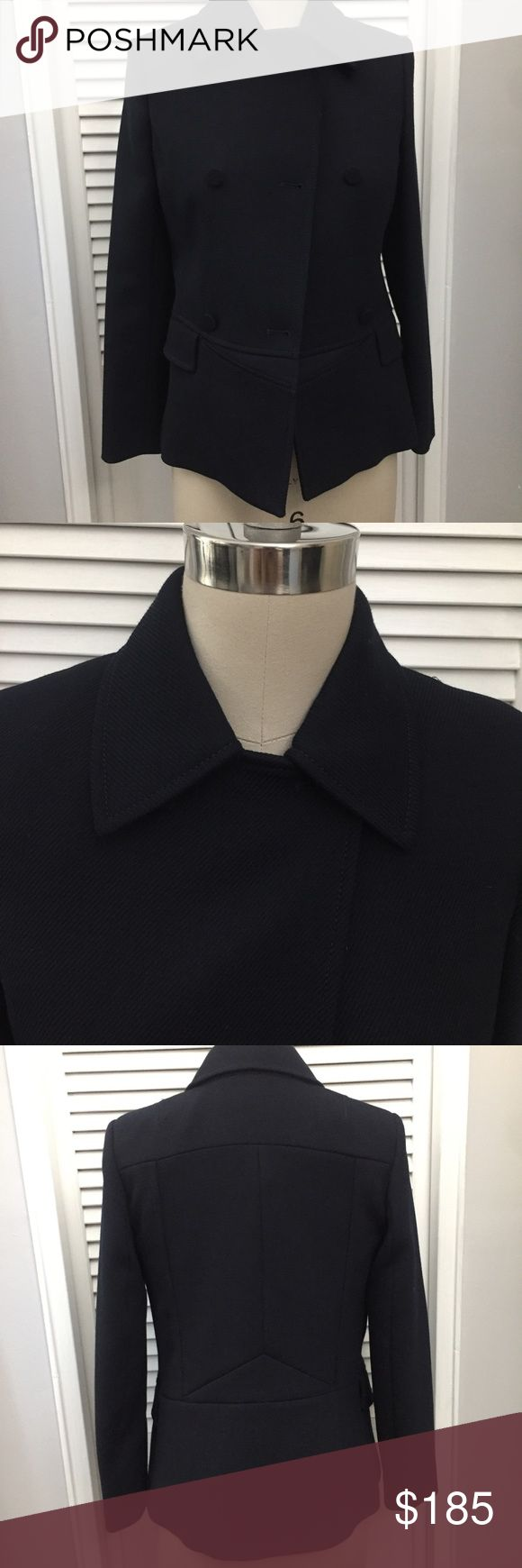 Reiss Night Navy Blazer *** NWT *** REISS Night Navy Blazer: Three Button Side Closers, Crew Collar Detail, Side Pocket Detail, and waist line detail...... obtained at a sample sale and never wore for fall. Reiss Jackets & Coats Blazers