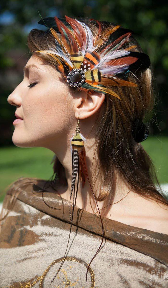 Заколки для волос с перьями, стиль хиппи hippie style jewellry 2640 рублей http://indiastyle.ru/products/zakolki-dlya-volos-ryzhimi-peryami-3347