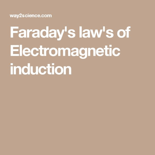 Faraday's law's of Electromagnetic induction