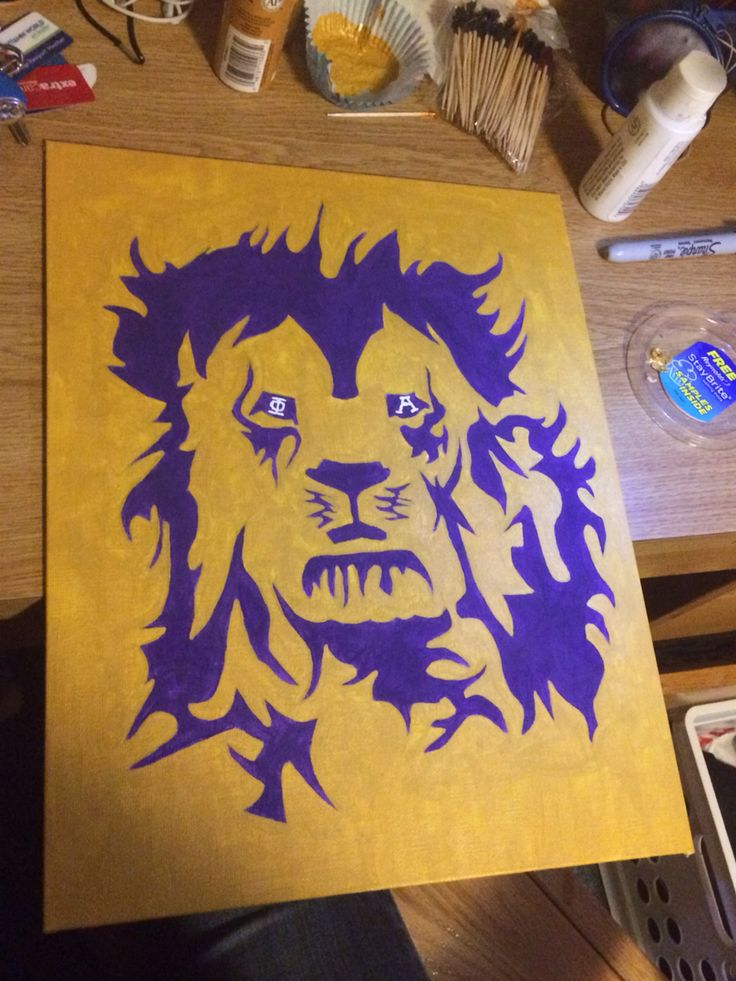 SAE lion canvas