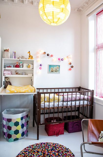 No room for a changing station? Try a pull down changing table!
