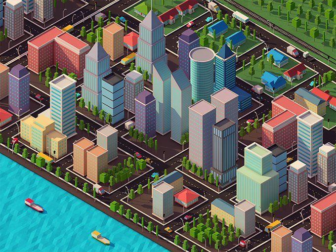 Low Poly City Pack by Anton Moek