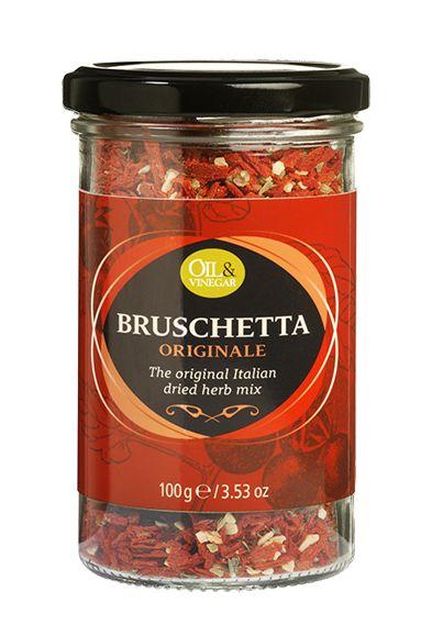 De Bruschetta Originale kruidenmix is een melange van gedroogde kruiden met onder andere gedroogde tomaat, knoflook en oregano. Deze mix wordt gebruikt voor op geroosterd brood of ciabatta, maar is ook perfect voor pastasauzen, kruidenboters of marinades.