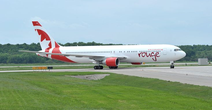 air canada | Air Canada rouge | Air Canada rouge's first newly painted Boeing 767 ...