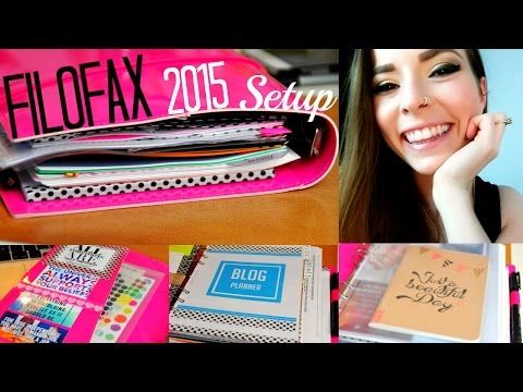 Affordable Filofax Setup 2015 - YouTube- watched and inspired, my favorite ! ~DaShannon