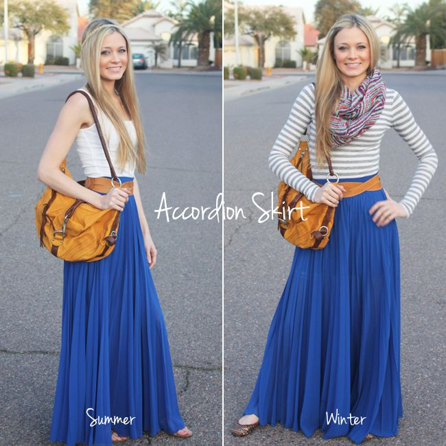 Summer - Winter Maxi skirt. I LOVE my maxis all year round!