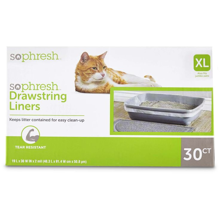 "So Phresh Drawstring Cat Litter Box Liners 19"" L x 36"" W"