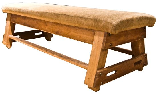 Vintage Gymnastic Horse Converted to Bench