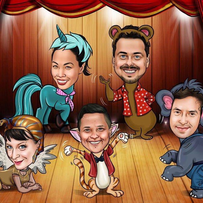 Eye-Catching Illustration for Improv Performance Troupe by Paachu