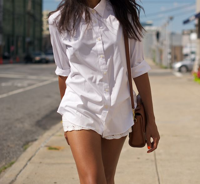 The most essential piece of a functional wardrobe - a good fitting white shirt!