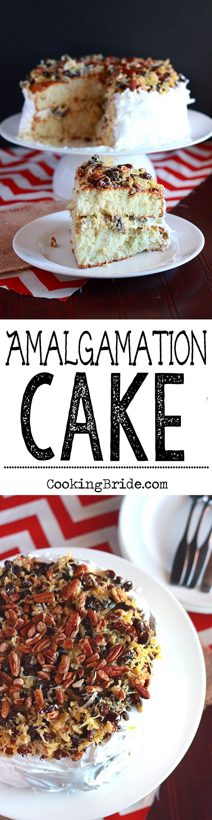 A forgotten Southern classic Amalgamation cake bines raisins coconut eggs and a