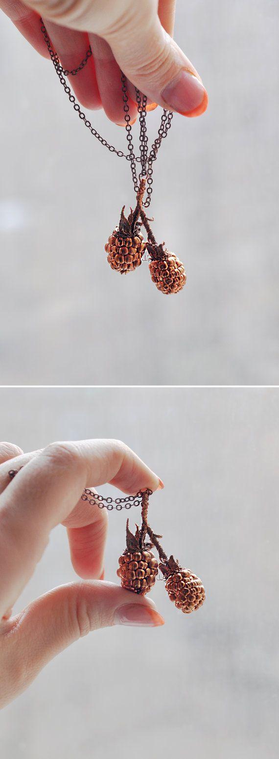 St Valentine Sale Real Blackberry Pendant Copper от ChechelArt