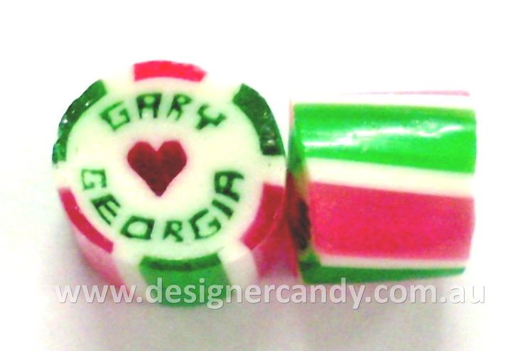 Design your own custom made Designer Wedding Candy! The Designer Wedding Candy with personalised names inside the candy adds a personal touch to your wedding day and is the perfect way to incorporate your colour theme and impress your guests. The ultimate in customisation for your bomboniere! Visit www.designercandy.com.au for more information! #designercandy #weddingcandy #bomboniere #favours #weddingfavours #wedding #candy #rockcandy #gifts #personalisedgifts #personalisedfavours #candybar