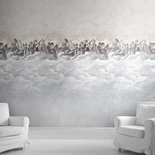 In The Clouds Wallpaper With Chairs