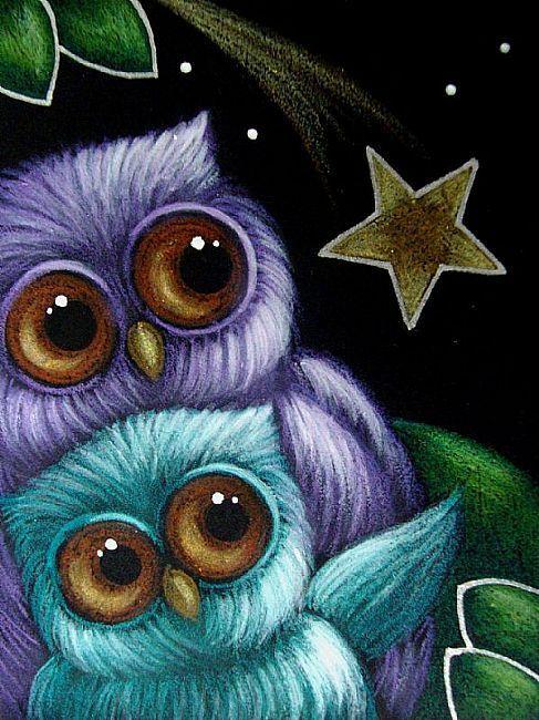 FANTASY OWLS FALLING STAR 2 - by Cyra R. Cancel from