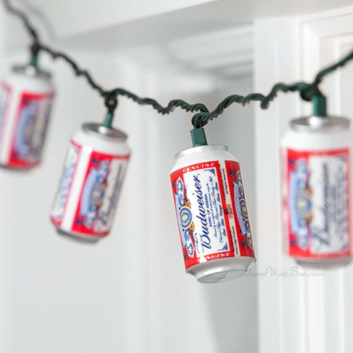 so awesome would be perfect for a guy's night / bachelor party (via Amanda Suever) [Beer can party lights]