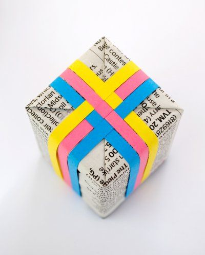 woven paper wrapping