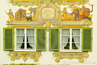 Painted House In Bavaria- storybook time on house exteriors - quite neato