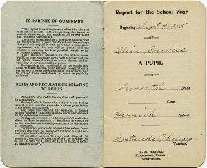 vintage school report card, old school paper, free digital ephemera graphics, antique school printable, teachers report clip art image