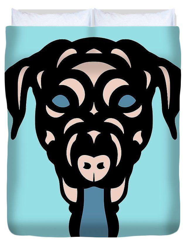 Duvet Cover Labrador Dorianna - Dog Design - Island Paradise, Pale Dogwood, Niagara Blue by Manuel Süess | Order at http://artprintsofmanuel.com/products/labrador-dorianna-dog-design-island-paradise-pale-dogwood-niagara-blue-manuel-sueess-duvet-cover.html