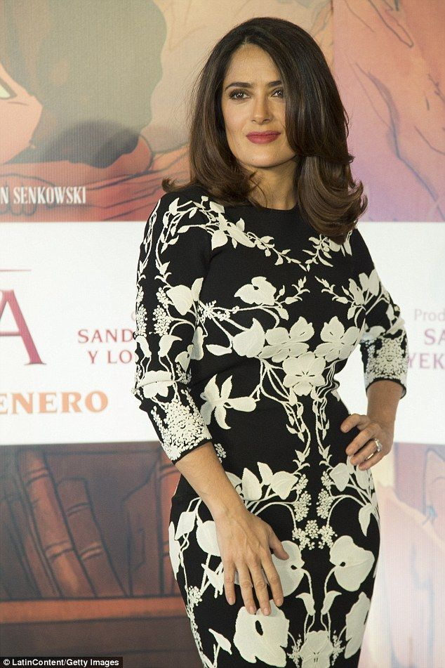 Mexican-American actress Salma Hayek (pictured January 16) recently lost her dog in a mysterious shooting