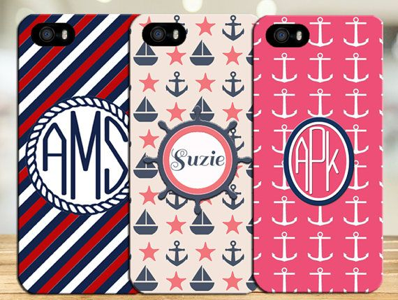 Nautical phone cases anchor phone case ship by FinePrintProducts