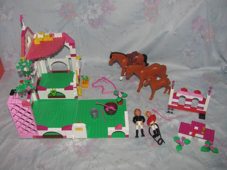 LEGO Belville Lot Equestrian Horse 7587 Jumping 7585 - Mare, Foal, Riders #Lego