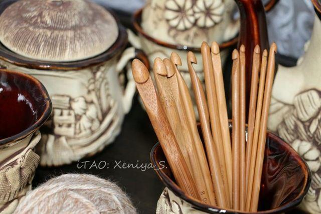 Бамбуковые крючки для вязания, набор 12 штук с Алиэкспресс - http://aliotzyvy.ru/bambukovye-kryuchki-dlya-vyazaniya-nabor-12-shtuk-s-aliekspress/