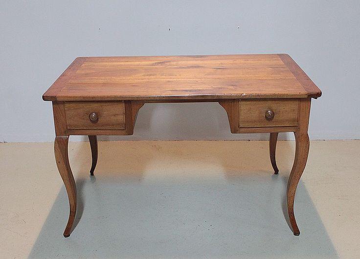 Table-Bureau Louis XV en Merisier XIXeme | Antiquites Lecomte