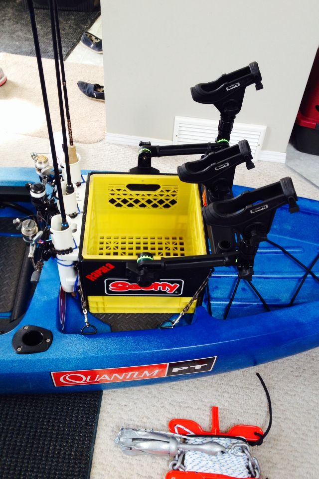 My kayak fishing crate on my Ascend FS12T.